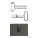 Two Prong Corkpuller chrome Chrome with Gift Box