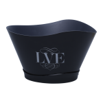 LED large Ice bucket black plastic