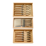 Laguiole knife, fork and spoon set