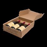 3 bottle wine box