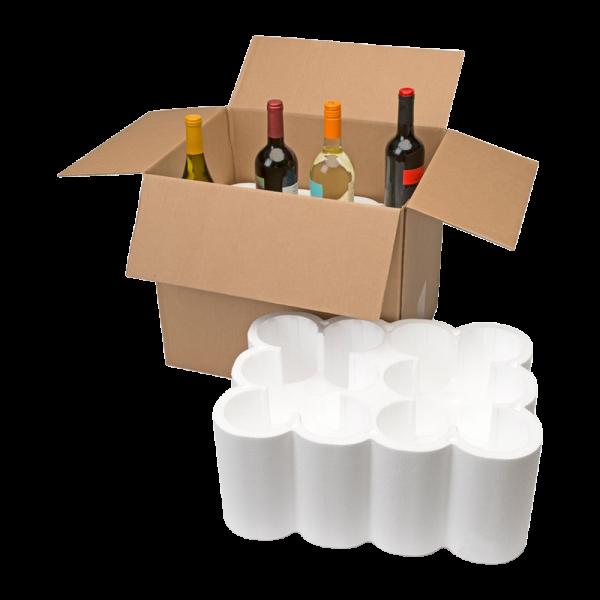 12-Bottle Styrofoam Wine Shipper