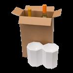 2-Bottle Styrofoam Wine Shipper