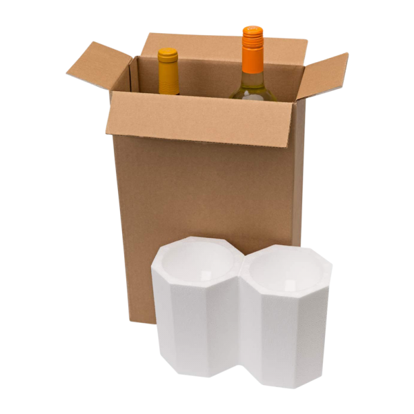 2-Bottle Styrofoam Wine Shipper