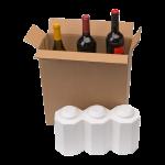 3-Bottle Styrofoam Wine Shipper