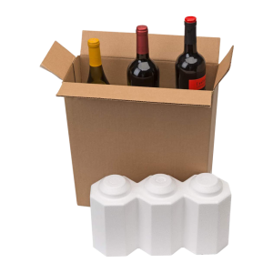3-Bottle Styrofoam Wine Shipper