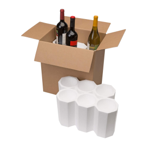 6-Bottle Styrofoam Wine Shipper