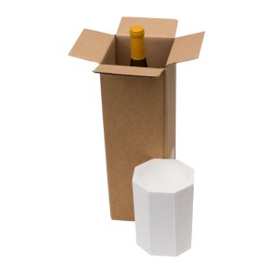 1-Bottle Styrofoam Wine Shipper