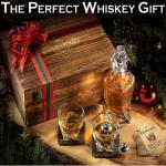Elegant Whiskey Decanter Set in Wooden Box