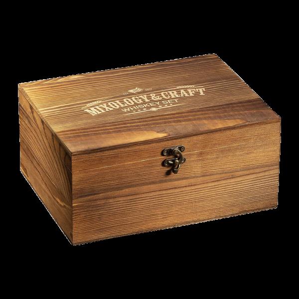 Elegant Whiskey Set in Wooden Box