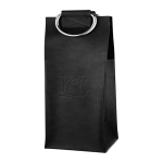 Leather 2-Bottle Tote