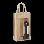2-Bottle Jute Tote